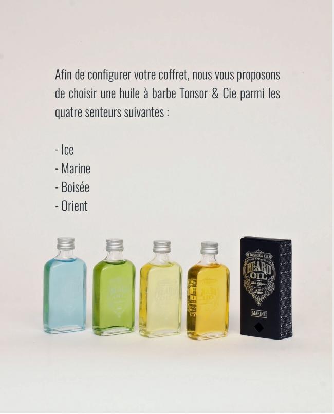 Coffret 'Huile et Brosse 5 rangs' (Huile Ice)